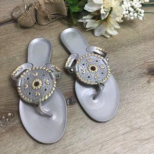 Jack Rogers Georgina Silver Jelly Sandals